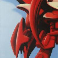 Manga_character_(RedRobotGirl)_(canvas)_50x100_(2002)
