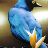 Nature_BlueBird_(BlauerVogel)_100x80_(2002)