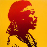 PopArt_JimiHendrix2_(Red-Yellow)_(canvas)_30x30